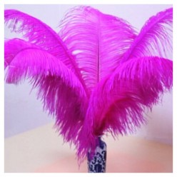1 шт. Фуксия цвет. Перо страуса 40-45 см
