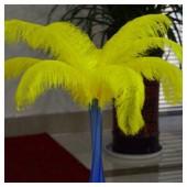 1 шт. Желтый цвет.  Перья страуса 45-50 см