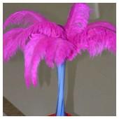 1 шт. Фуксия цвет.  Перья страуса 45-50 см