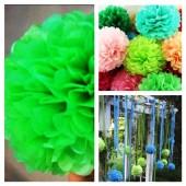 1 шт. Зеленый цвет. Бумажные цветы. Пионы. Объем 10 см.
