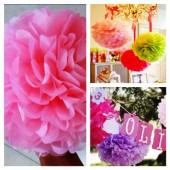 1 шт. Ярко-розовый цвет. Бумажные цветы. Пионы. Объем 10 см.
