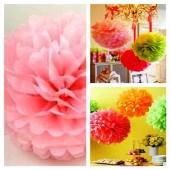 1 шт. Розовый цвет. Бумажные цветы. Пионы. Объем цветка 15 см