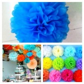 1 шт. Морская волна цвет. Бумажные цветы. Пионы. Объем цветка 20 см