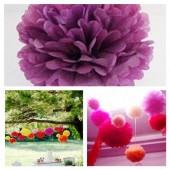 1 шт. Фиолетовый цвет. Бумажные цветы. Пионы. Объем цветка 20 см