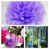 1 шт. Сиреневый цвет. Бумажные цветы. Пионы. Объем цветка 20 см