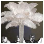1 шт. Белый цвет.  Перья птиц страуса 50-55 см.  Экстра класс