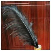 1 шт. Черный цвет. Перья птиц страуса 55-60 см