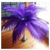 1 шт. Фиолетовый цвет. Перья птиц страуса 70-75 см