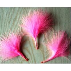 20 шт. Розовый цвет. Боа марабу перья страуса 5-7 см