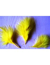 20 шт. Желтый цвет. Боа марабу перья страуса 5-7 см