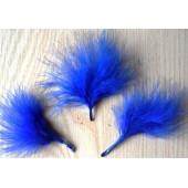 20 шт. Синий цвет. Боа марабу перья страуса 5-7 см