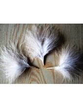 20 шт. Белый цвет. Боа марабу перья страуса 5-7 см