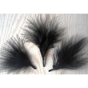20 шт. Черный цвет. Боа марабу перья страуса 5-7 см