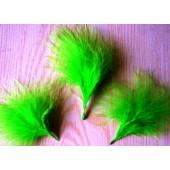 20 шт. Зеленый цвет. Боа марабу перья страуса 5-7 см