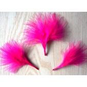 20 шт. Фуксия цвет. Боа марабу перья страуса 5-7 см