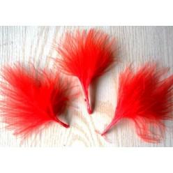20 шт. Красный цвет. Боа марабу перья страуса 5-7 см