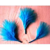 20 шт. Голубой цвет. Боа марабу перья страуса 5-7 см