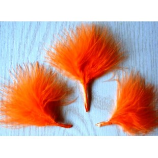 20 шт. Оранжевый цвет. Боа марабу перья страуса 5-7 см
