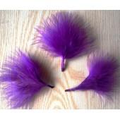 20 шт. Фиолетовый цвет. Боа марабу перья страуса 5-7 см