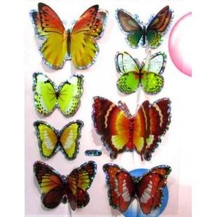 Бабочки на палочке 7 см.