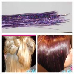 100 шт. Светло-фиолетовый цвет. Нити для волос