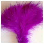 20 шт. Фиолетовый цвет. Перья боа марабу 8-12 см.