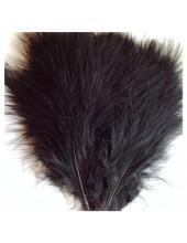 20 шт. Черный цвет. Перья боа марабу 8-12 см.
