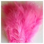 20 шт. Розовый цвет. Перья боа марабу 8-12 см.