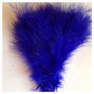 20 шт. Синий цвет. Перья боа марабу 8-12 см.