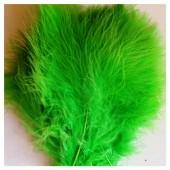 20 шт.  Салатовый цвет. Перья боа марабу 8-12 см.