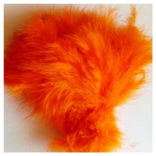 20 шт. Оранжевый цвет. Перья боа марабу 8-12 см.