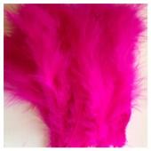 20 шт. Фуксия цвет. Перья боа марабу 8-12 см.
