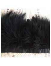 1 м. Черный цвет. Тесьма из перьев боа. Ширина 5-7 см.