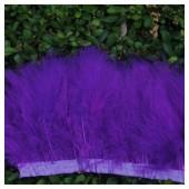 1 м. Фиолетовый  цвет. Тесьма из перьев боа. Ширина 5-7 см.