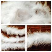 Белый цвет. Боа тесьма из перьев марабу 4-5 см