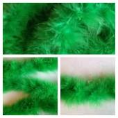 Зеленый цвет. Боа тесьма из перьев марабу 4-5 см