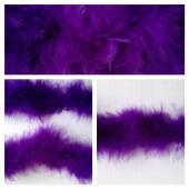 Фиолетовый цвет. Боа тесьма из перьев марабу 4-5 см