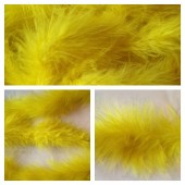 Желтый цвет. Боа тесьма из перьев марабу 4-5 см