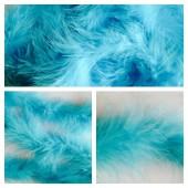 Голубой цвет. Боа тесьма из перьев марабу 4-5 см