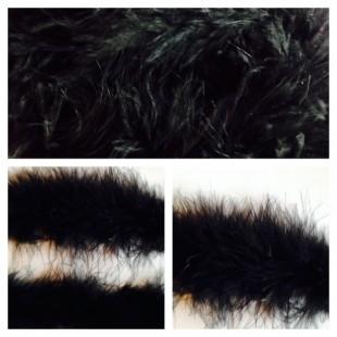 Боа тесьма из перьев марабу 6-7 см