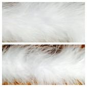 Белый цвет. Боа тесьма из перьев марабу 6-8 см