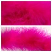 Фуксия цвет. Боа тесьма из перьев марабу 6-8 см