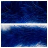 Синий цвет. Боа тесьма из перьев марабу 6-8 см