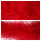 Красный цвет. Боа тесьма из перьев марабу 6-8 см