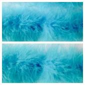 Голубой цвет. Боа тесьма из перьев марабу 6-8 см