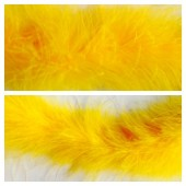 Желтый цвет. Боа тесьма из перьев марабу 6-8 см