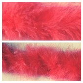 Арбуз цвет. Боа тесьма из перьев марабу 6-8 см