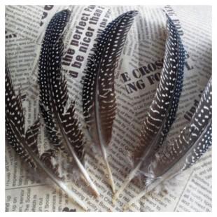 10 шт. Серый с белым. Перья фазана 15-20 см. В крапинку