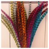 Перья фазана 30-35 см. Цветное