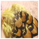 20 шт. Желтый цвет. Перья фазана 6-9 см.